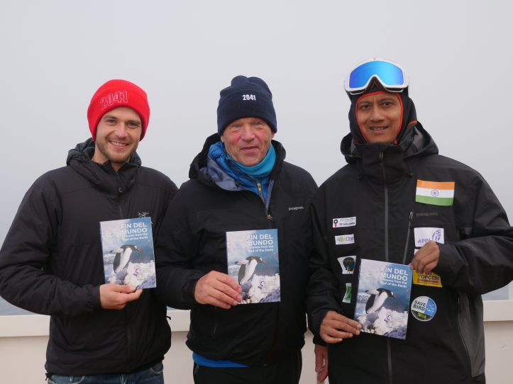 Book release on top of the world, with Robert Swan and Barney Swan.JPG