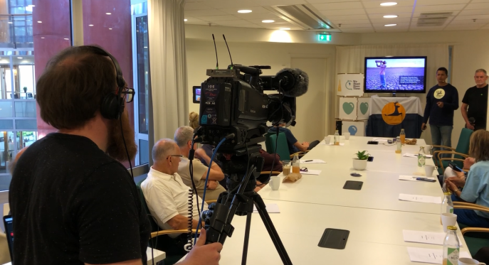 Live broadcast from the We Dont Have Time global (WDHT) headquarters, Stockholm